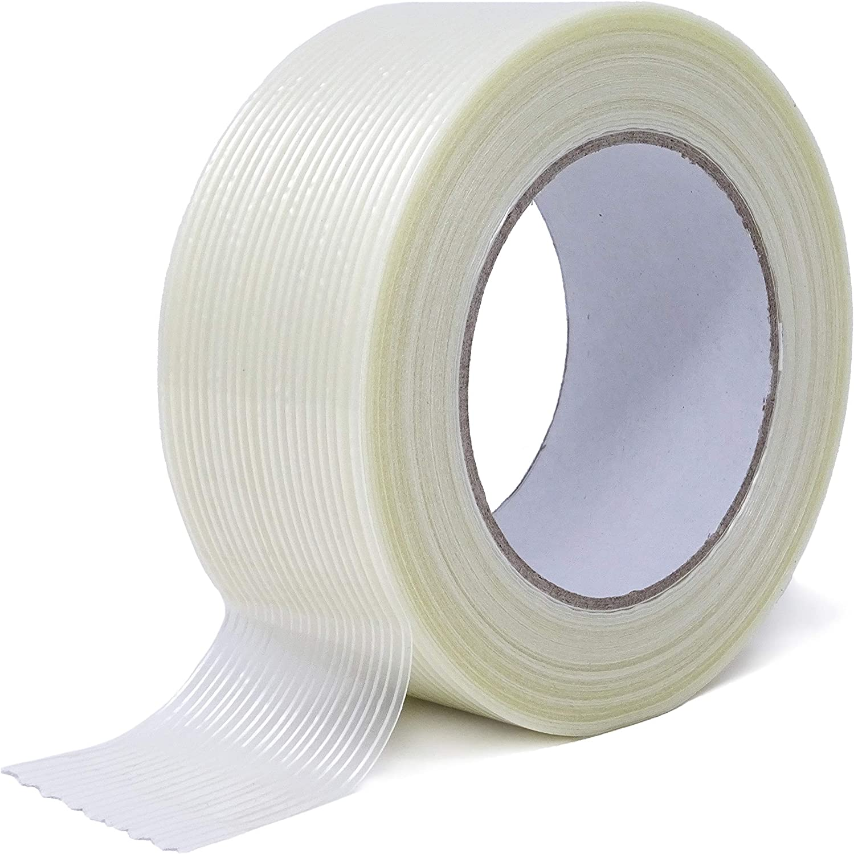 Gws - Cinta adhesiva de filamento en dirección longitudinal, reforzada con fibra de vidrio, longitud 50 m, ancho 50 mm: Amazon.es: Bricolaje y herramientas