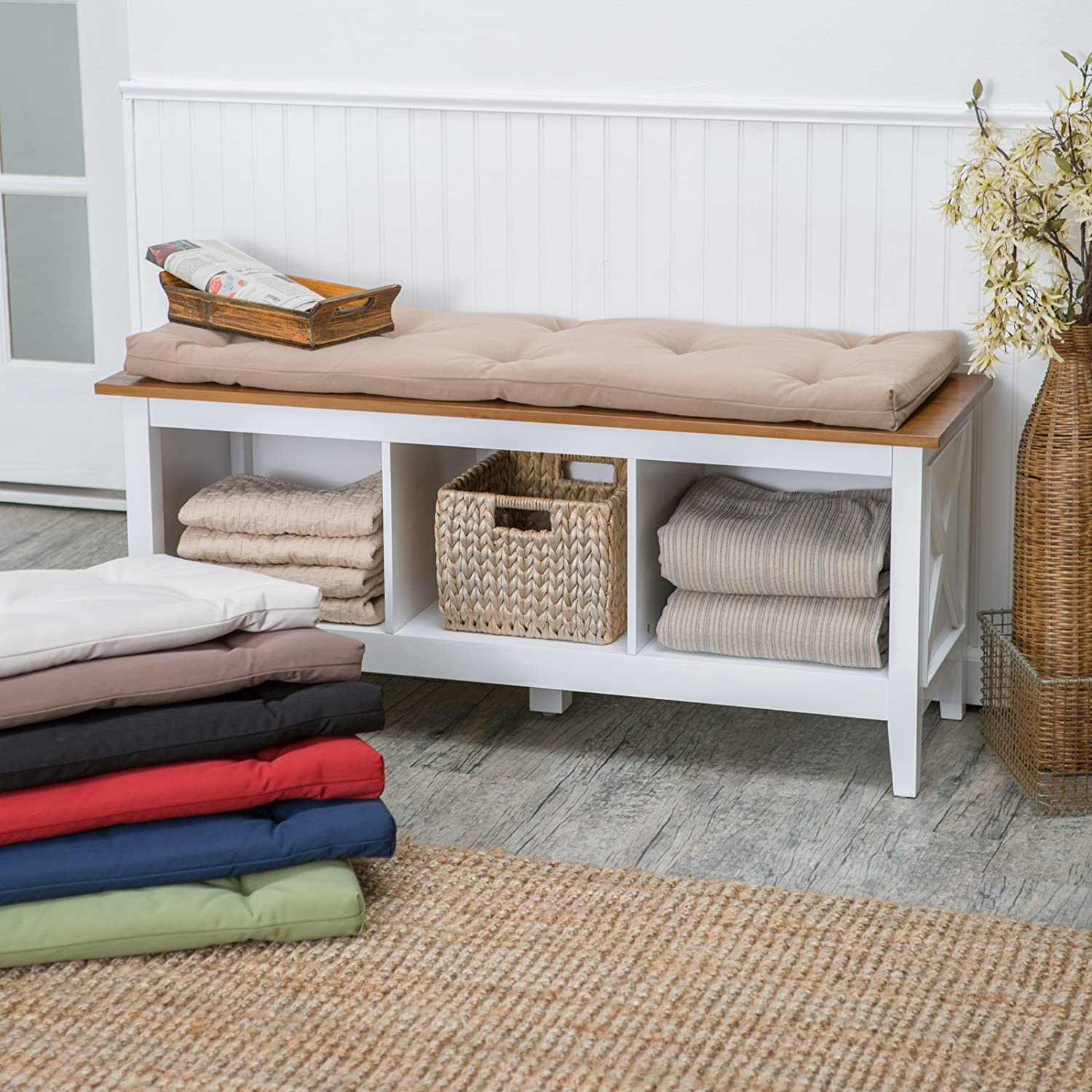 Amazon.com : Deauville 45 x 16 in. Storage Bench Cushion : Throw ...