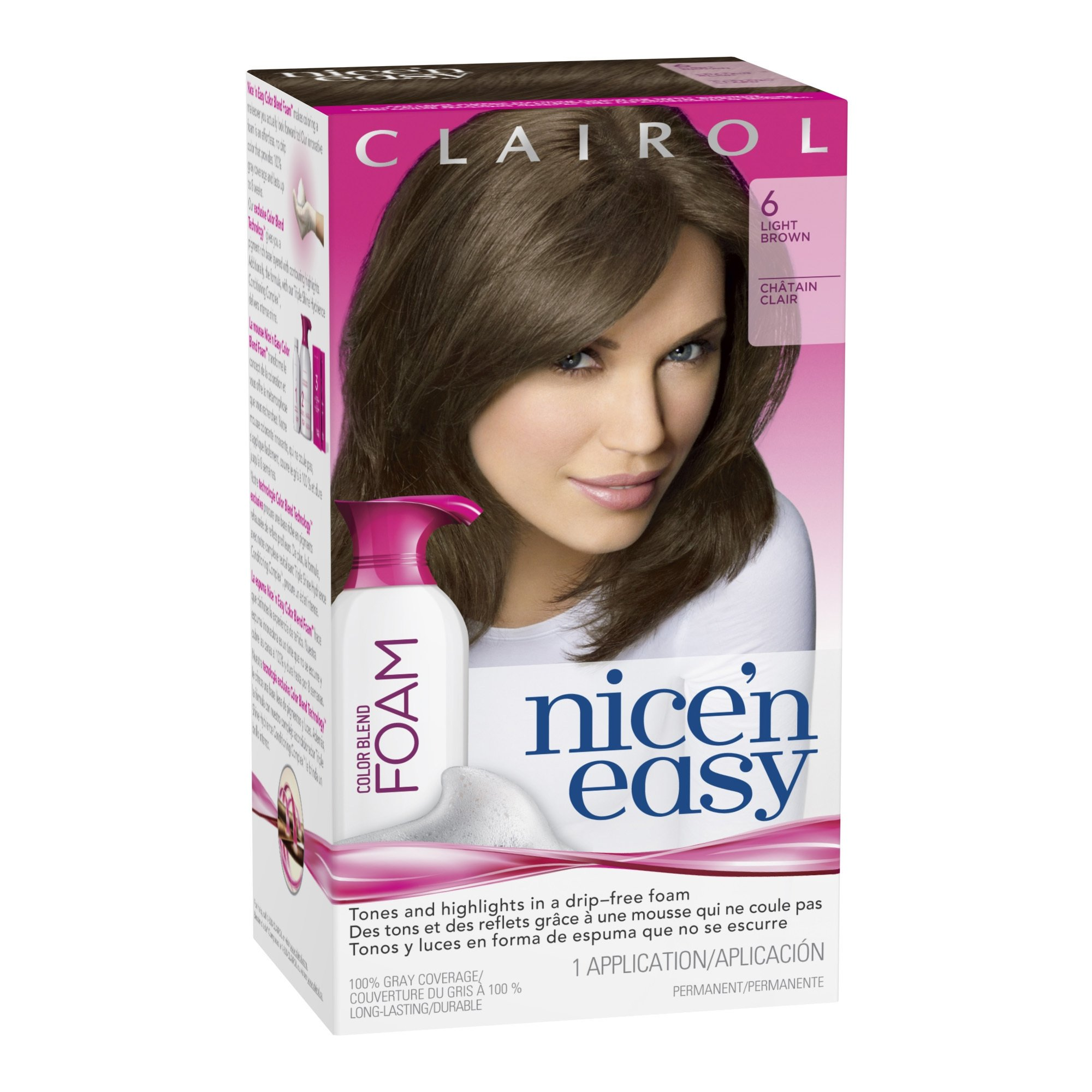 Amazon Clairol Nice N Easy Color Blend Foam Hair Color 6