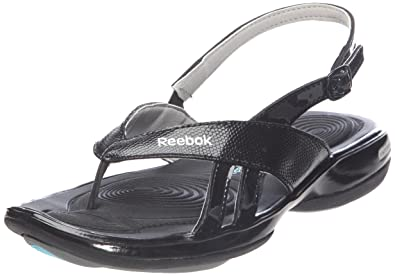 fcfe4563807a4 Reebok Women s J22187 Noir (Black Grey Silver Steel) Beach Thong Sandals    Pool Shoes
