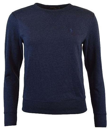 Polo Ralph Lauren Womens Fleece Pullover Sweatshirt (X-Small, Blue Heather) aa2dc09e346