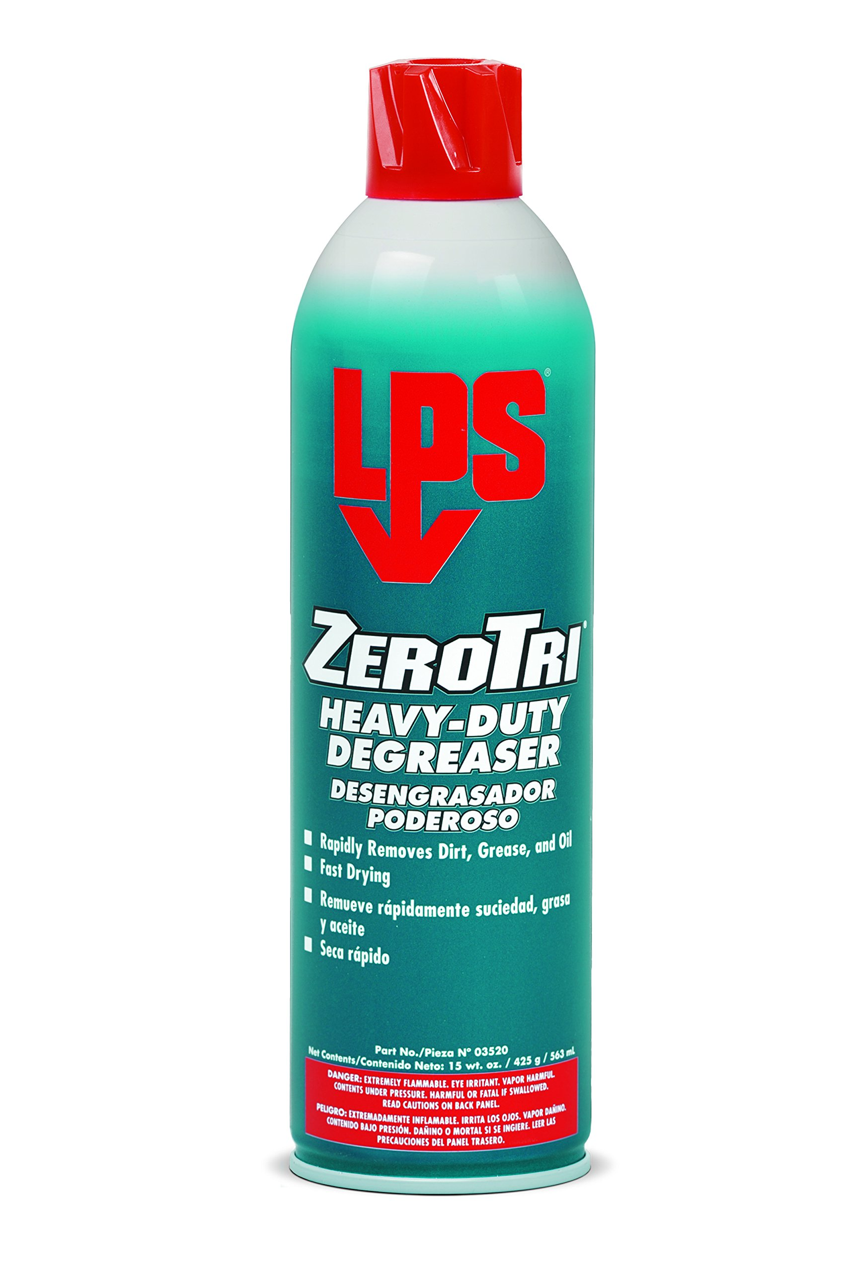 LPS Zero Tri Heavy-Duty Degreaser, 15 oz Aerosol (Pack of 12)