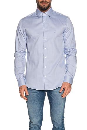 Calvin Klein - Camisa de Manga Larga para Hombre, microfantasía ...