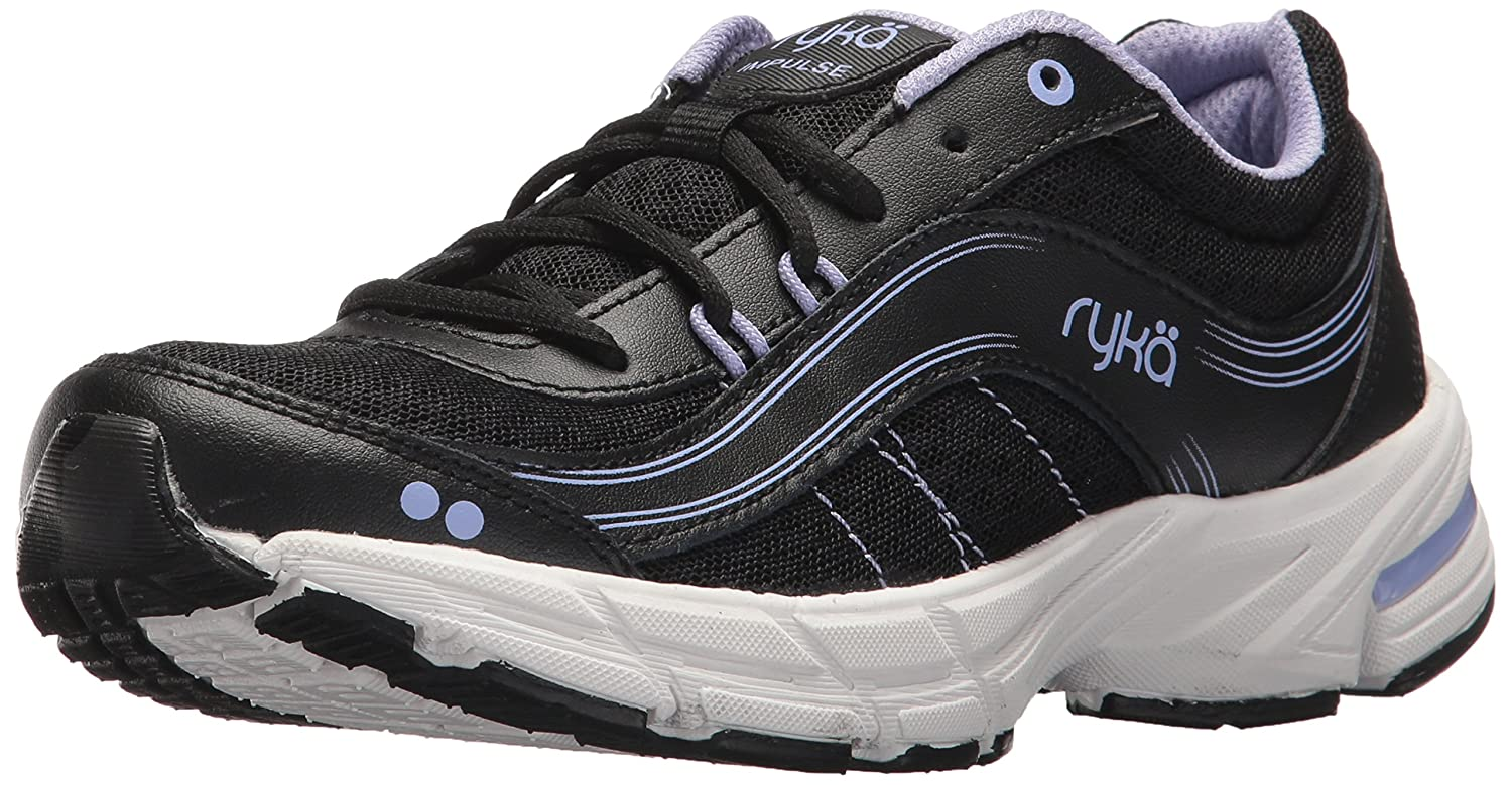 Ryka Women's Impulse Walking Shoe B071GLV562 9.5 W US|Black/Grey