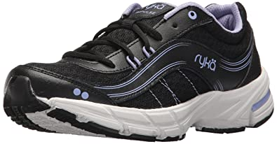 Ryka Women's Impulse Walking-Shoes, Black/Grey, ...
