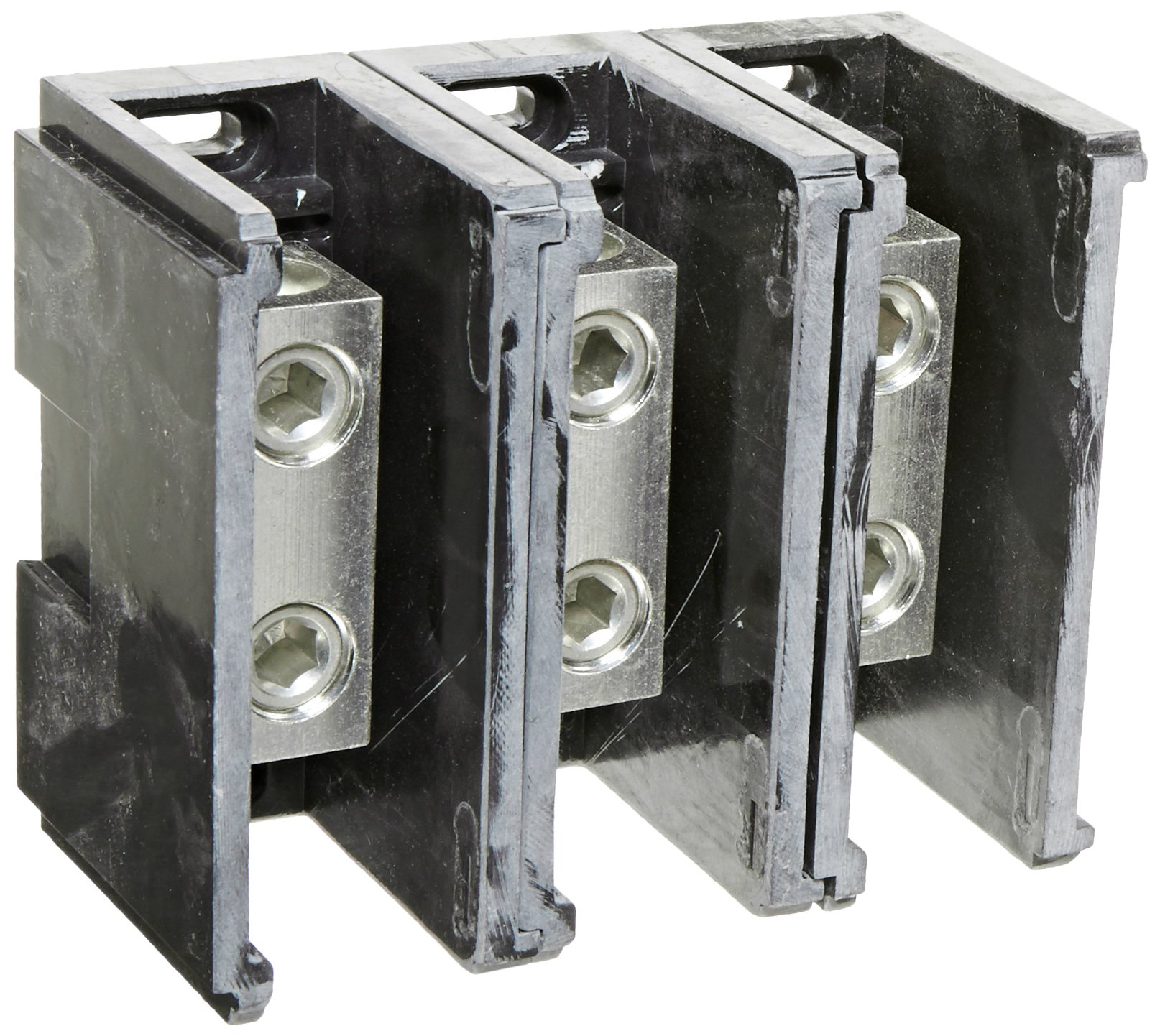 Power Distribution and Terminal Block, Connector Blok - Splicer/Reducers, 250MCM-6 AWG Line and 250MCM-6 AWG Load Side Configuration, 1.71'' Width, 2.62'' Height, 4.00'' Length