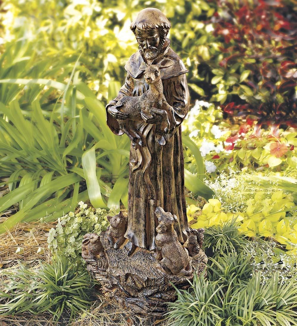 Wind & Weather Resin St. Francis Statue garden sculptures indoor outdoor saint 10½'W x 22'H