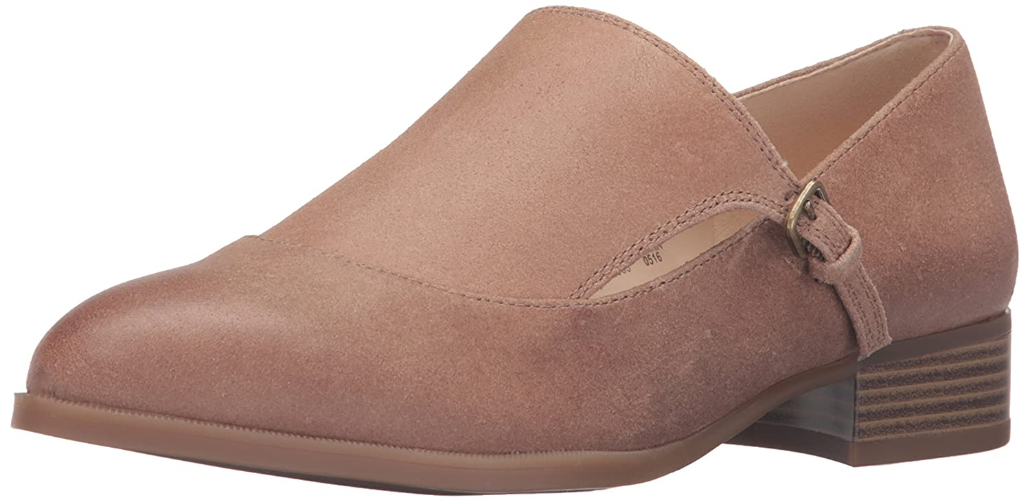 Nine West Women's Nyessa Leather Monk-Strap Loafer B01ENODATG 7 B(M) US|Natural