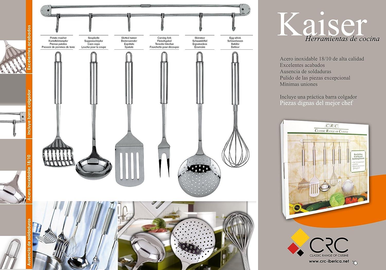 Compra Set de 6 utensilios de cocina KAISER y colgador - acero ...