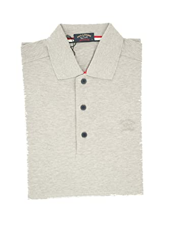 PAUL & SHARK Polo, Casual, Slimfit, Algodón Gris S: Amazon.es ...