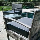 BELLEZE 3PC Patio Outdoor Wicker Furniture