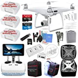 DJI Phantom 4 PRO PLUS (PRO+) Drone Quadcopter (Remote W/ Integrated Touch Screen Display) Bundle Kit with 3 Batteries, 4K Professional Camera Gimbal and MUST HAVE Accessories