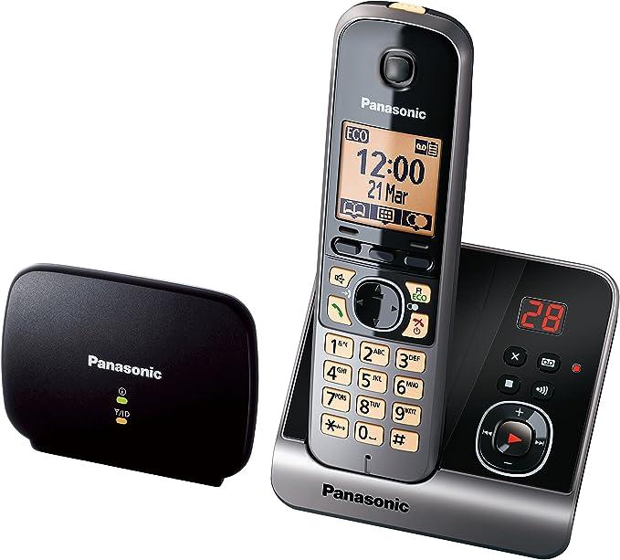 Panasonic KX-TG6761GB - Teléfono inalámbrico y repetidor, color negro [versión importada]: Amazon.es: Electrónica