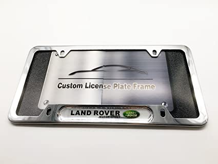 Amazon.com: LAND ROVER Logo Emblem Custom Automotive License Plate ...