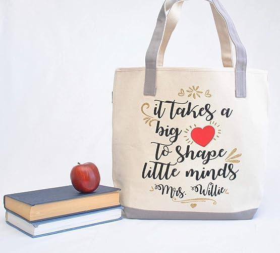 Teacher Tote Bag Personalized Teacher Tote Bag Kindergarten Teacher Tote Preschool Teacher Gift Teacher Appreciation Gift Teacher Gift
