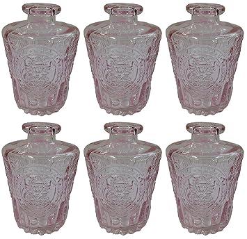 Botiquín Decorar vasos de botella Cristal 3 o 6 unidades corcho Cristal corcho Botella Botella de Licor farmacia Cristal Vintage Cristal, vidrio, rosa, ...