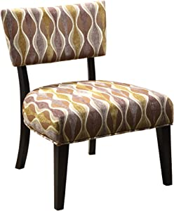 Furniture of America Florence Padded Fabric Accent Chair, Espresso Finish