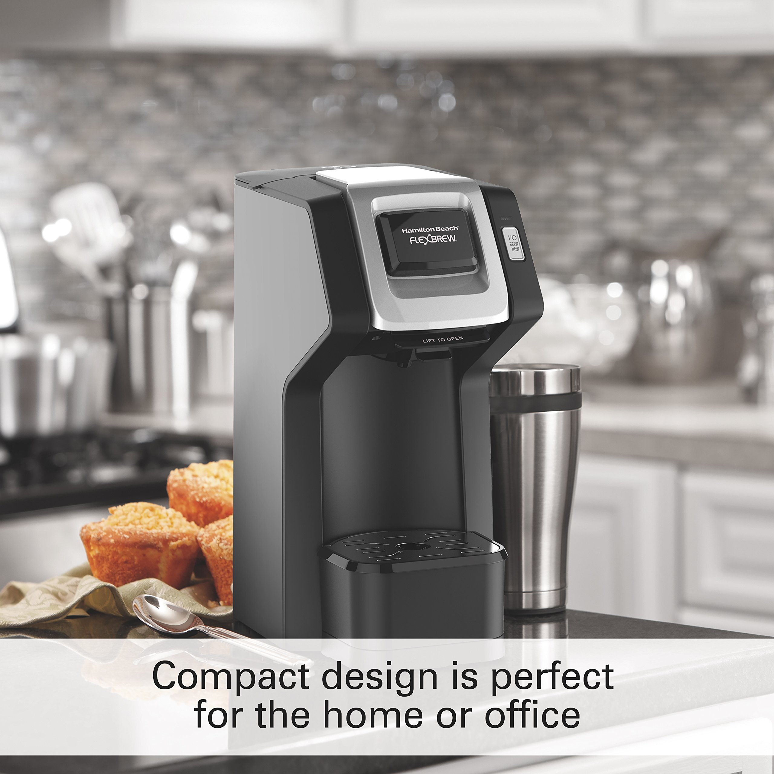 Hamilton Beach (49974) Single Serve Coffee Maker,Compatible withK-Cup Packs and Ground Coffee, Flexbrew, Black by Hamilton Beach (Image #7)
