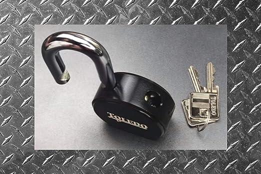 Toledo Lock Black Series tbk90r Candados de seguridad con llave redonda con American Lock Candado de Chavetas (cada orden es Custom Llave para trabajar con ...