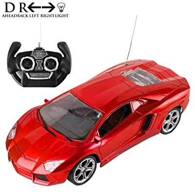 Best Price Center Exotic Race Car Aventador RC 1:16 Scale with Flashing Lights and Authentic Sounds, 2.4Ghz: Toys & Games