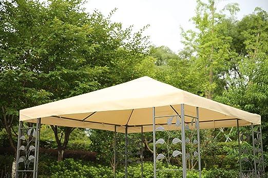 Angel Living - Cubierta Superior de Repuesto para Techo de jardín de 3 x 3 m, 1 Nivel, toldo de Repuesto para Carpa, Color Beige, tamaño 297 x 297 cm: Amazon.es: Jardín