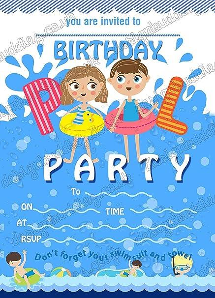 Invitaciones Para Fiestas De Cumpleaños Con Diseño De