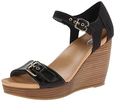 Dr. Scholl's Women's Molton Wedge Sandal, Black, ...