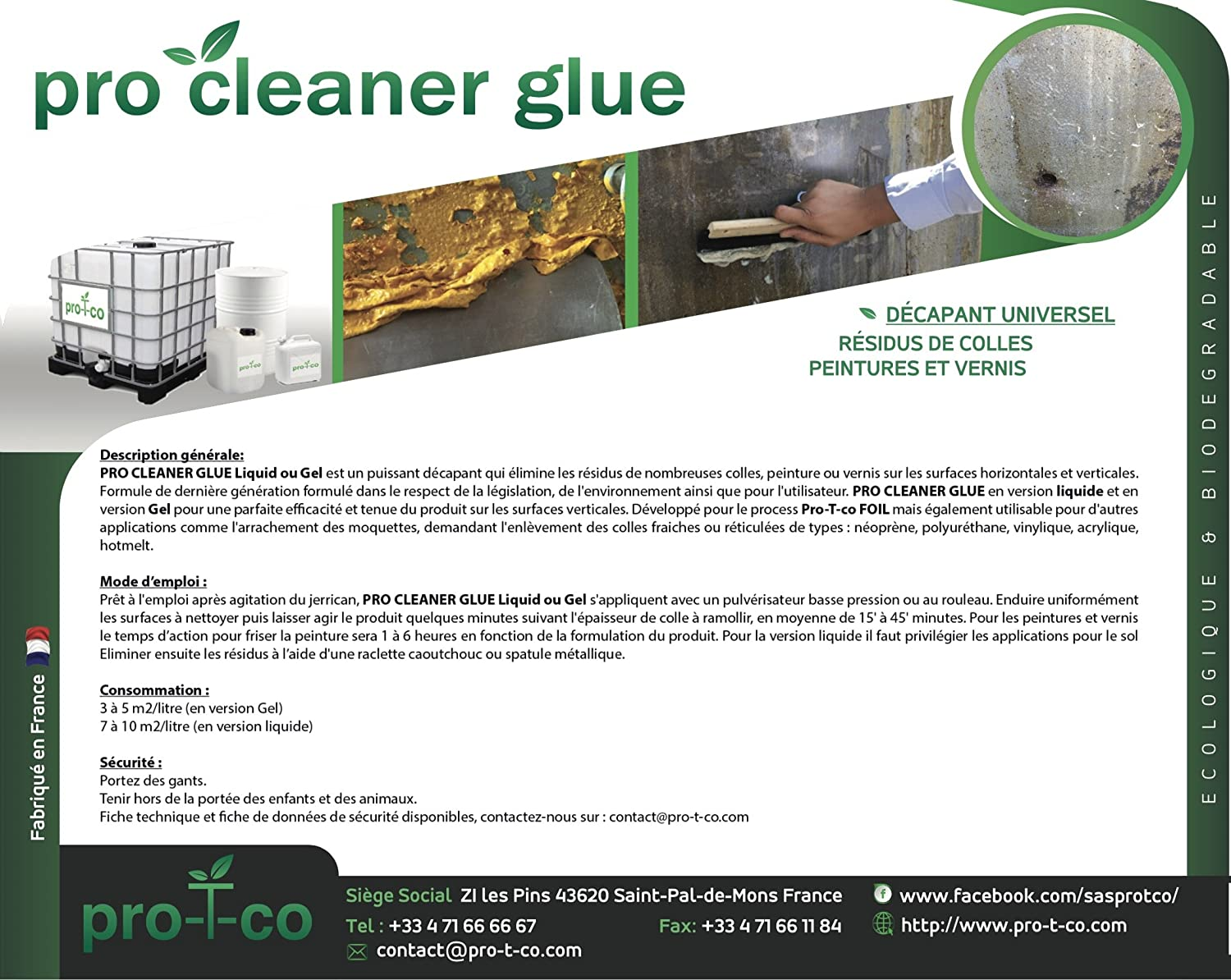 Pro Cleaner Glue Gel – 1L – Decapante Ecológico y biodegradable ...