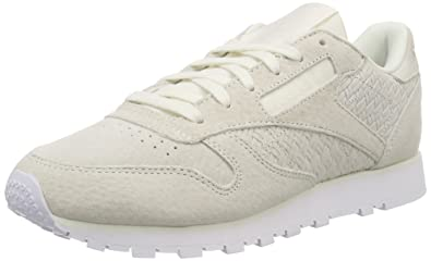 957ab3f6413 Image Unavailable. Image not available for. Color  Reebok Women s Classic  Leather Woven Emb ...
