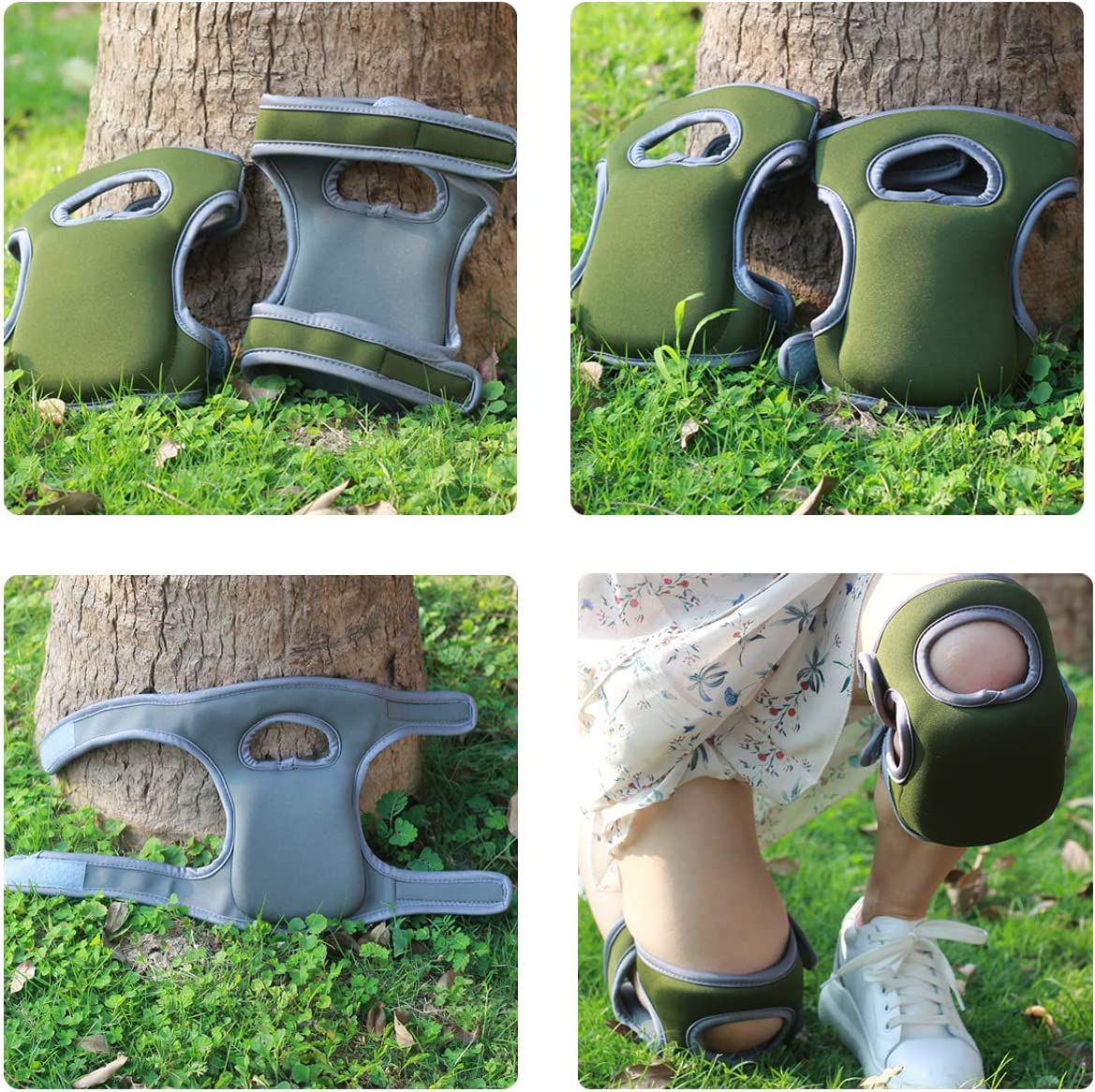Gaosheng 1 Pair Gardening Knee Pads Protective Cushion Garden Knee Pad Comfortable Short Knee Pads for Work and Gardening