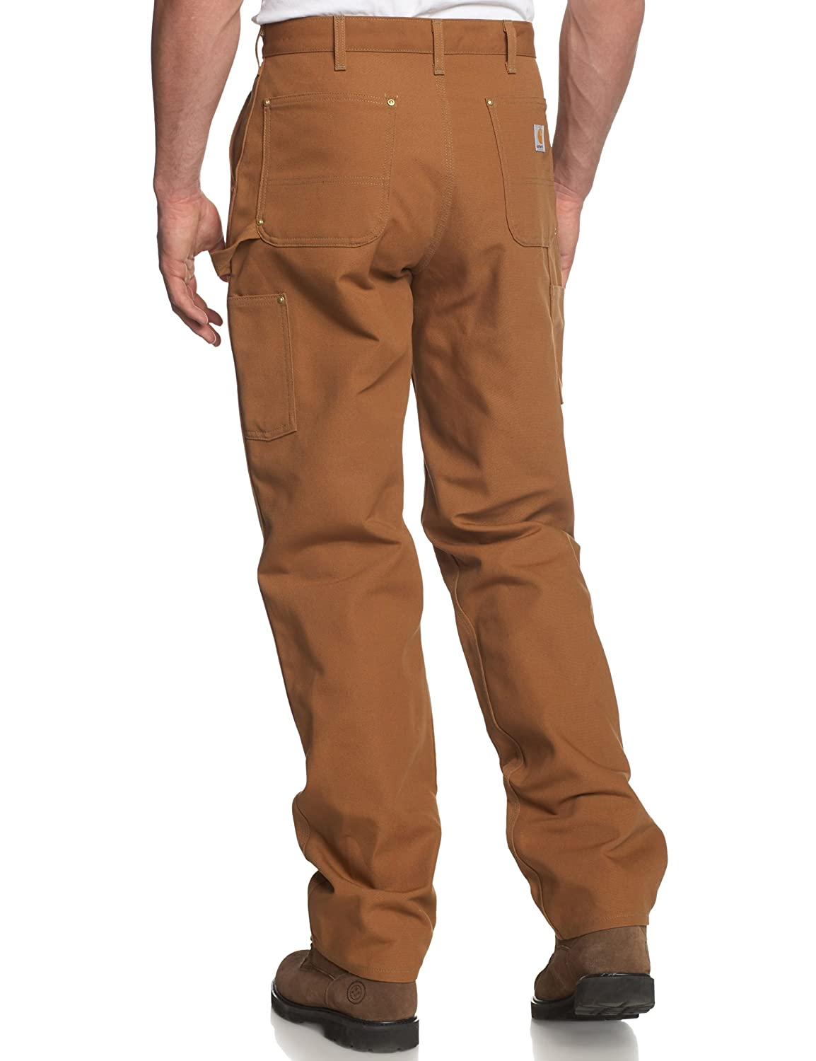 Amazon.com: Carhartt Men's Double Front Duck Utility Work Dungaree ...