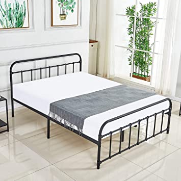 Twin Box Spring Metal Frame Bed Structure Coil Mattress Support Foundation Steel