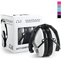 Pro For Sho 34dB Shooting Ear Protection - Special Designed Ear Muffs Lighter Weight & Maximum Hearing Protection - Standard Size, White