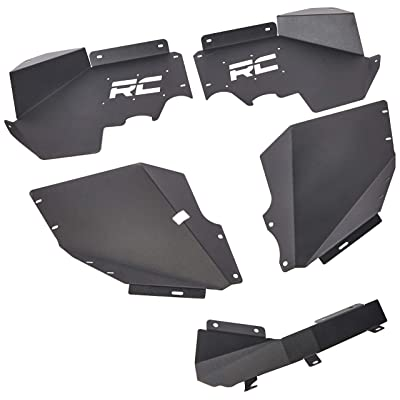 Rough Country Front Inner Fenders (fits) 2007-2020 Jeep Wrangler JK | Under Fender Armor | 1195: Rough Country: Automotive