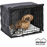 iCrate Dog Crate Starter Kit | 24-Inch Dog Crate Kit Ideal for Small Dog Breeds Weighing 13-25 Pounds | Includes Dog Crate, Pet Bed, 2 Dog Bowls & Dog Crate Cover | 1-Year Midwest Quality Guarantee