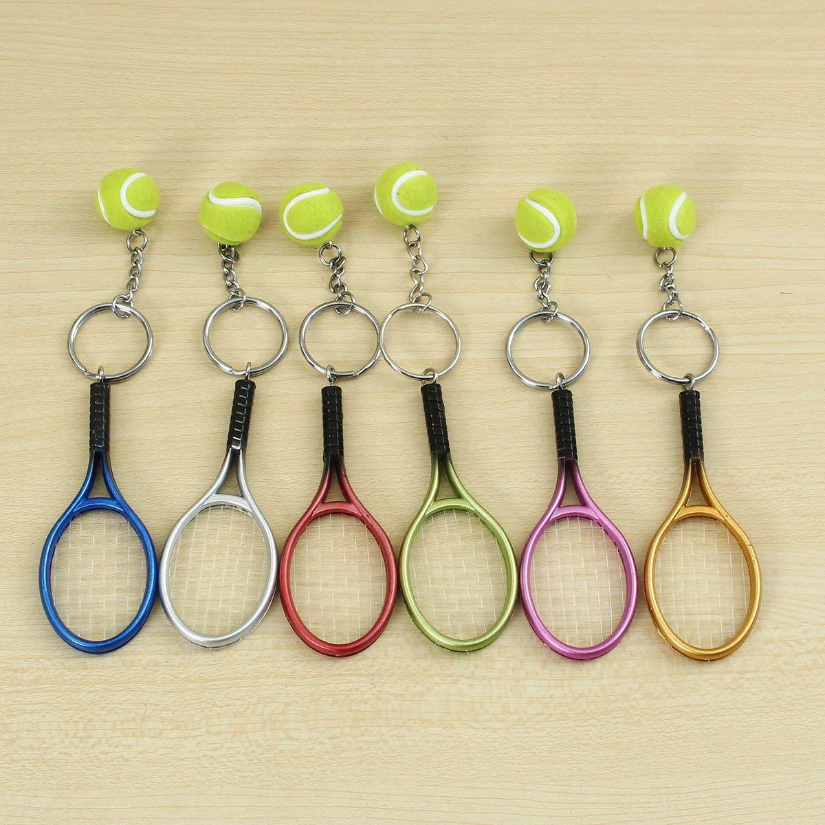 KUNSE Sport Tenis Pelota Raqueta Llavero Coleccionable ...