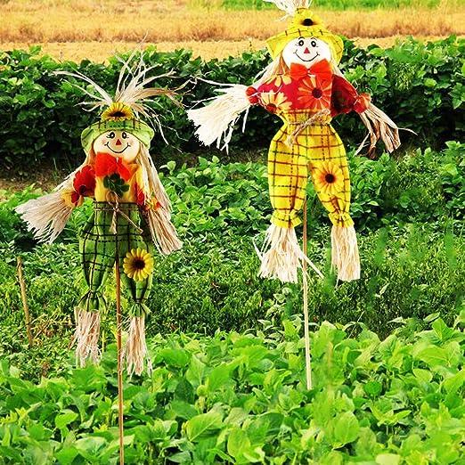 Espantapájaros de IFOYO, para la cosecha de otoño, decoración para jardines, casas, patios o porches, para Acción de Gracias y Halloween: Amazon.es: Hogar