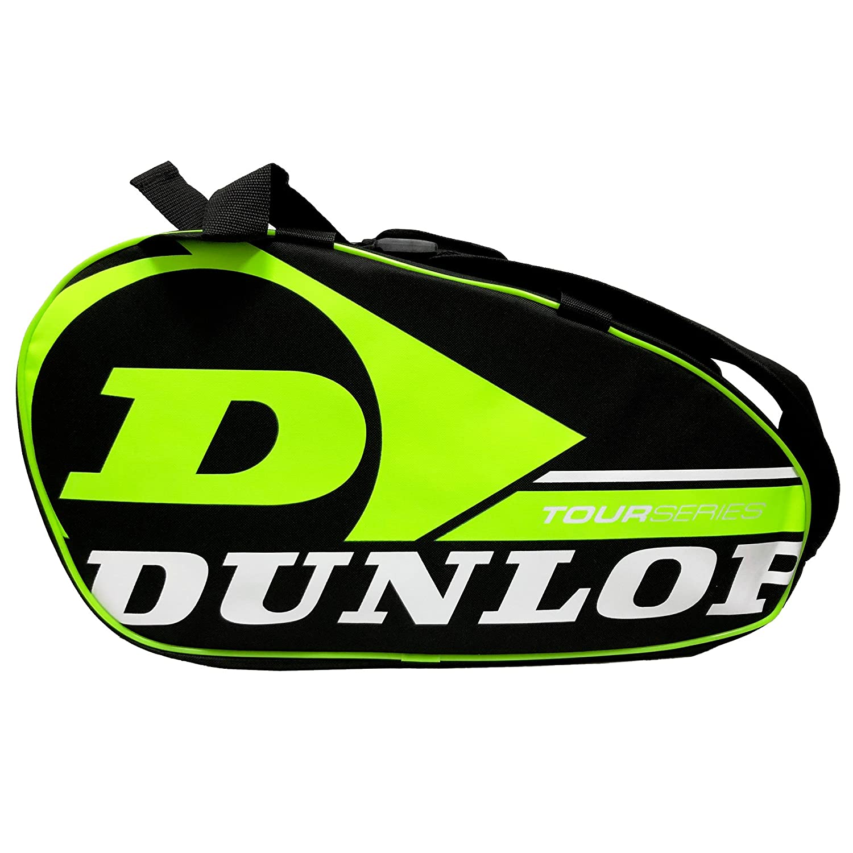 Paletero de pádel Dunlop Tour Intro Negro / Amarillo Flúor