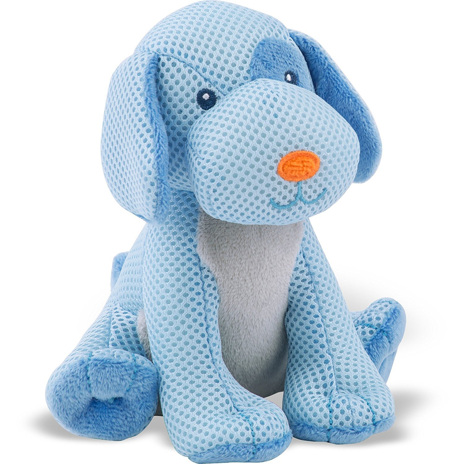 BreathableBaby Breathables Mesh Blue Puppy Dog Toy - 0+mths
