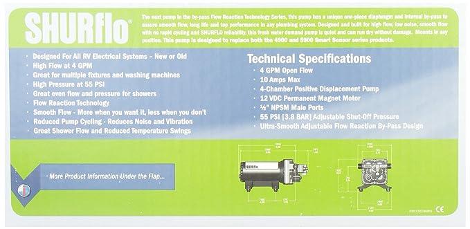 Amazon.com: SHURFLO 4048153E75 Electric Water Pump: Automotive