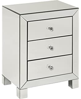 Amazon Azul Fully Mirrored Modern Night Stand Kitchen & Dining