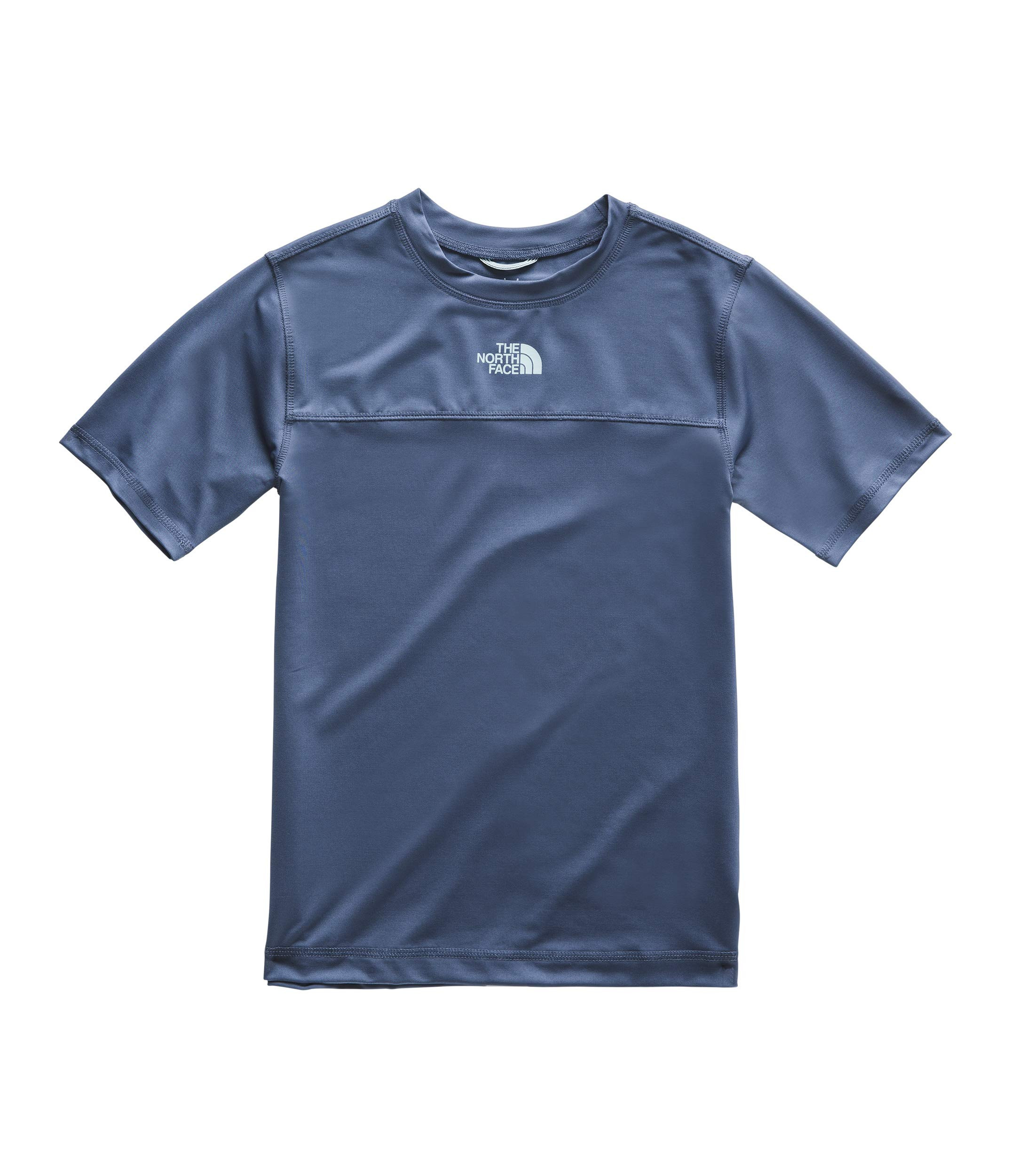 The North Face Kids Boy's Short Sleeve Amphibious Tee (Little Kids/Big Kids) Shady Blue Large