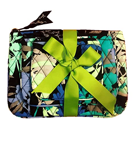 52c01a44b5 Amazon.com   Vera Bradley Cosmetic Trio Camofloral of 3 with Solid Black  Lining   Beauty