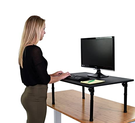 Amazoncom Adjustable Height Standing Desk w Folding legs