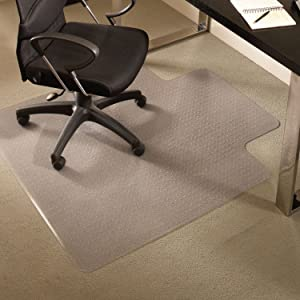 "ES Robbins EverLife Chair Mat with Lip for Medium Pile Carpet, 45""x53"", Crystal Edge"