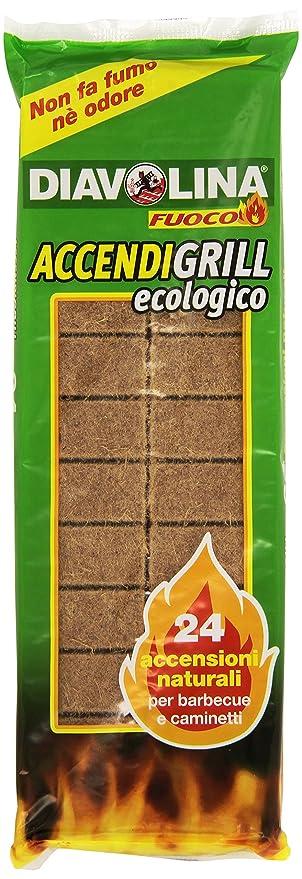 Diavolina - Pastillas de encendido, ecológicas, para el encendido natural barbacoas y chimeneas,