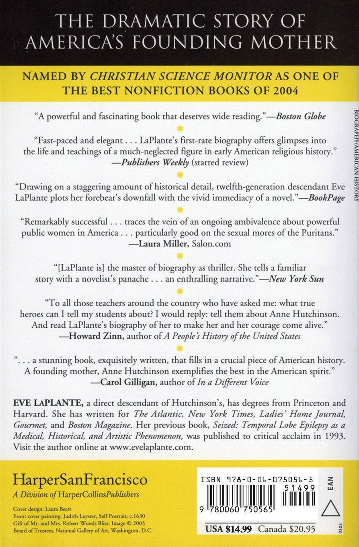 American jezebel the uncommon life of anne hutchinson the woman american jezebel the uncommon life of anne hutchinson the woman who defied the puritans eve laplante 9780060750565 amazon books fandeluxe Image collections