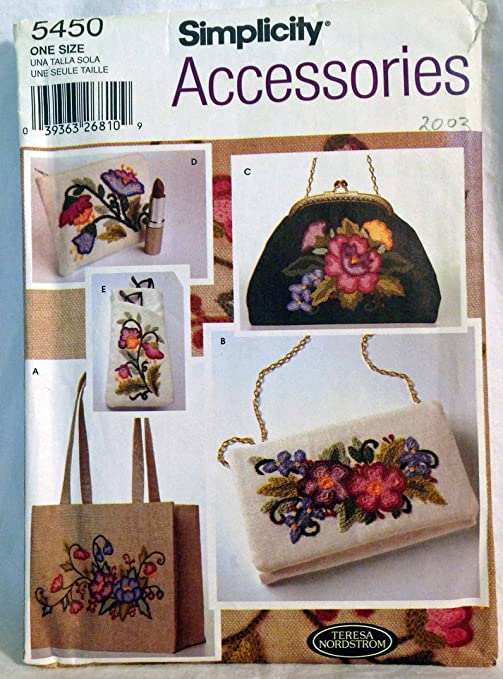 Simplicity 5450 - Patrones de costura para cartera o bolso ...