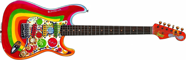 Tarjeta de felicitación Fender Stratocaster Rocky Guitarra de ...