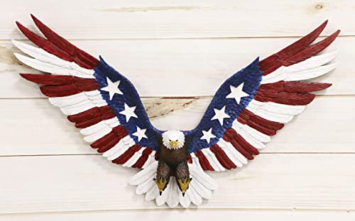 Ebros Freedom Glory Large Flying American Flag Tattoo Bald Eagle